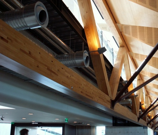 Exposed Glulam Beams ~ Farm forestry timbers glue laminated timber glulam