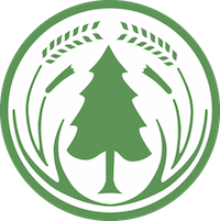 NZFFA logo: green conifer tree on white background