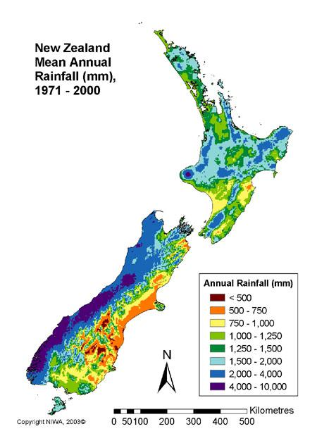 Mean annual rainfall